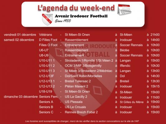 171203 agenda weekend