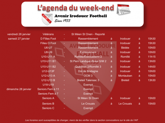 180128 agenda weekend