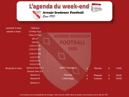 180304 agenda weekend