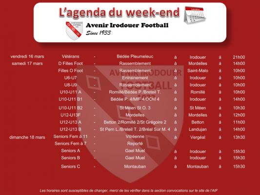 180318 agenda weekend