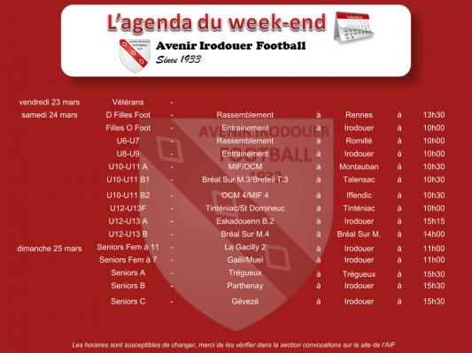 180325 agenda weekend