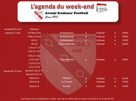180422 agenda weekend