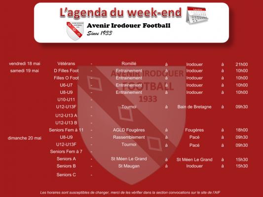 180520 agenda weekend 1
