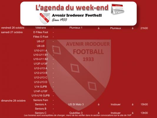 181028 agenda weekend 1
