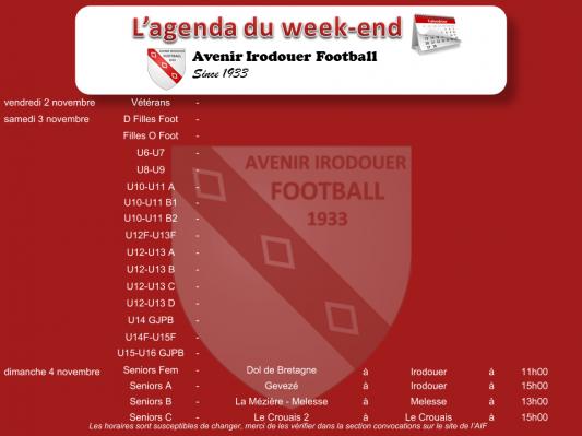 181104 agenda weekend