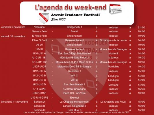 181111 agenda weekend 1