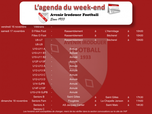181118 agenda weekend 1