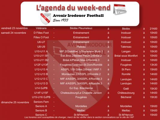 181125 agenda weekend