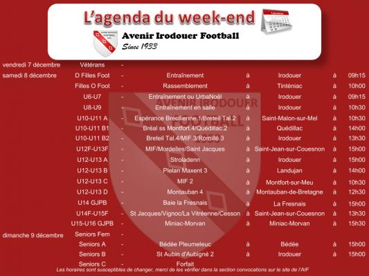 181209 agenda weekend