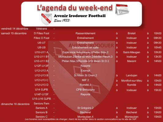 181216 agenda weekend 1