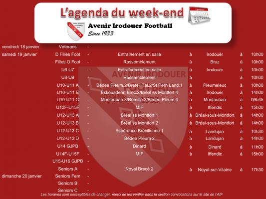 190120 agenda weekend