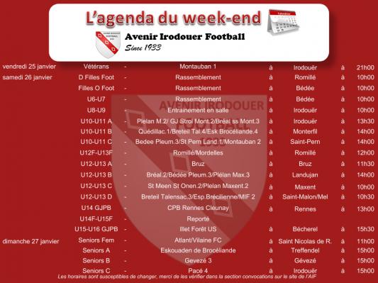 190127 agenda weekend