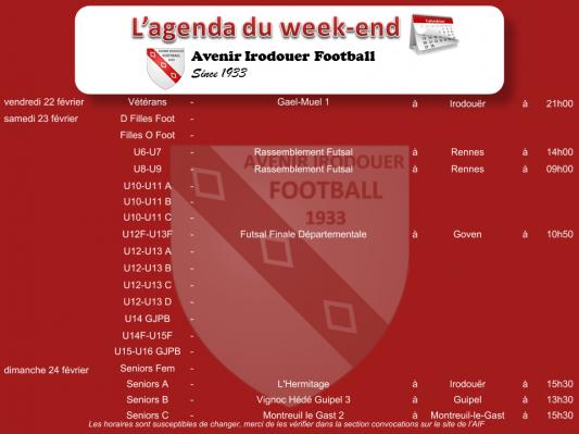190220 agenda weekend