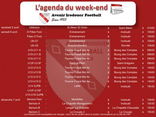 190407 agenda weekend
