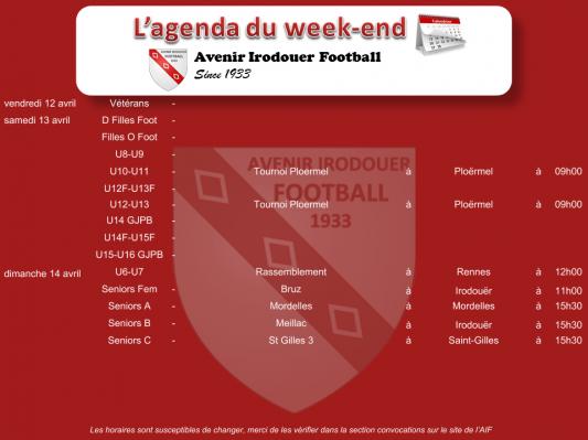 190412 agenda weekend