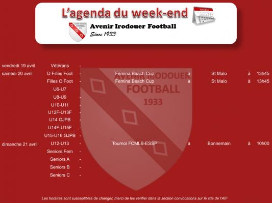 190421 agenda weekend