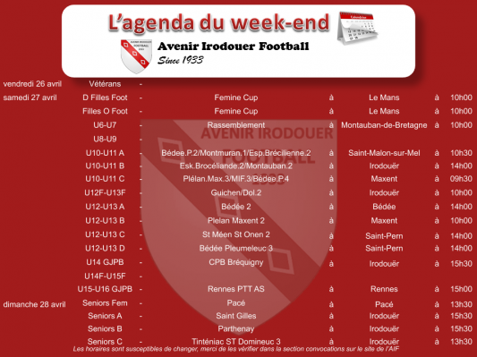190424 agenda weekend