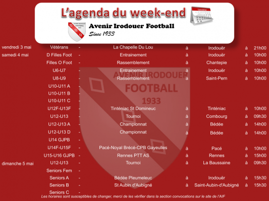 190505 agenda weekend