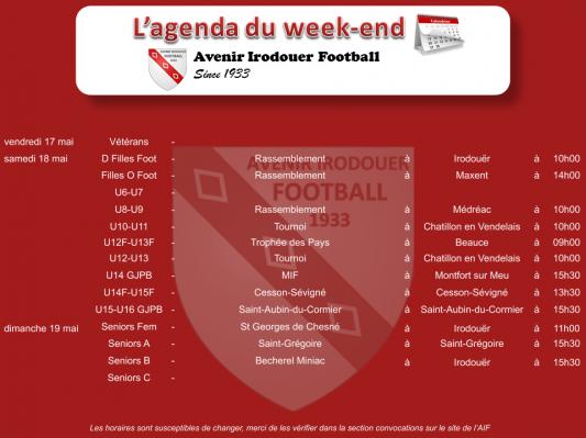 190519 agenda weekend