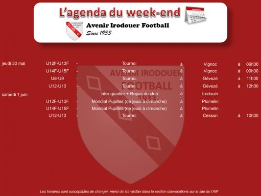 190602 agenda weekend