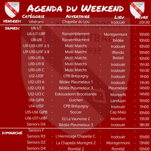 191110 agenda weekend