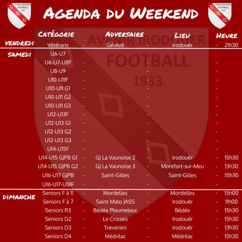 20201025 agenda weekend