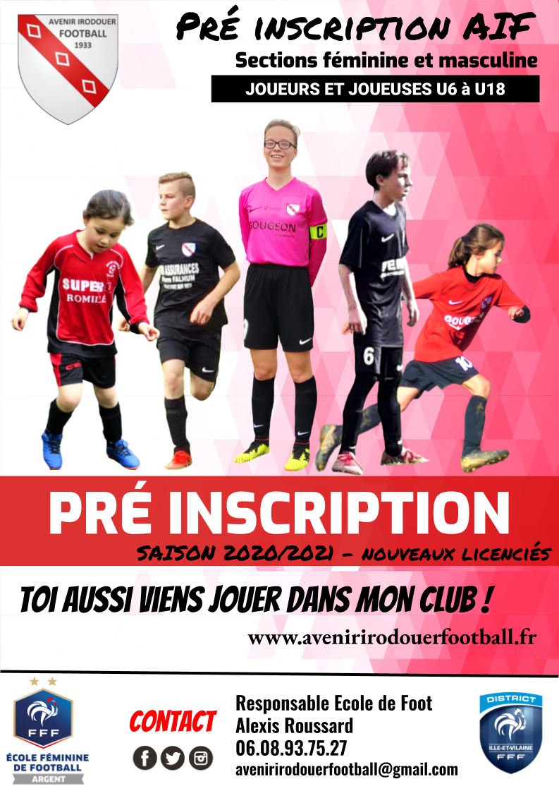 Affiche pre inscription 2020 2