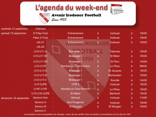 Agenda weekend 3