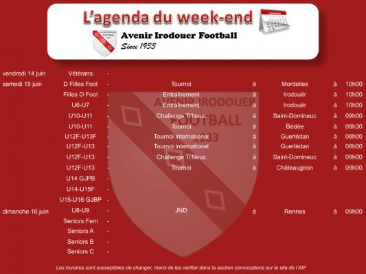 Agenda weekend 4