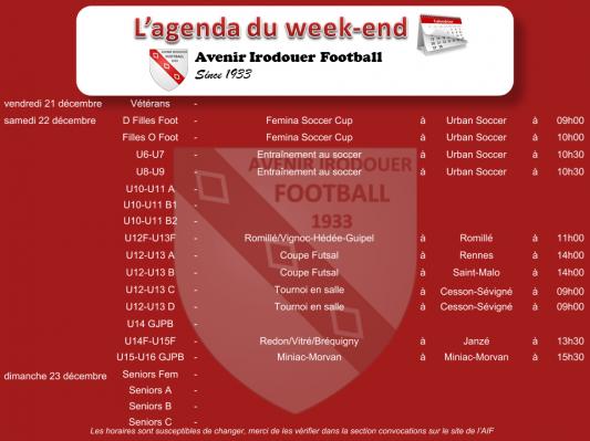 Agenda weekend 5