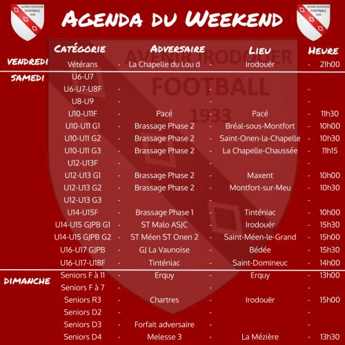 Agenda weekend 6