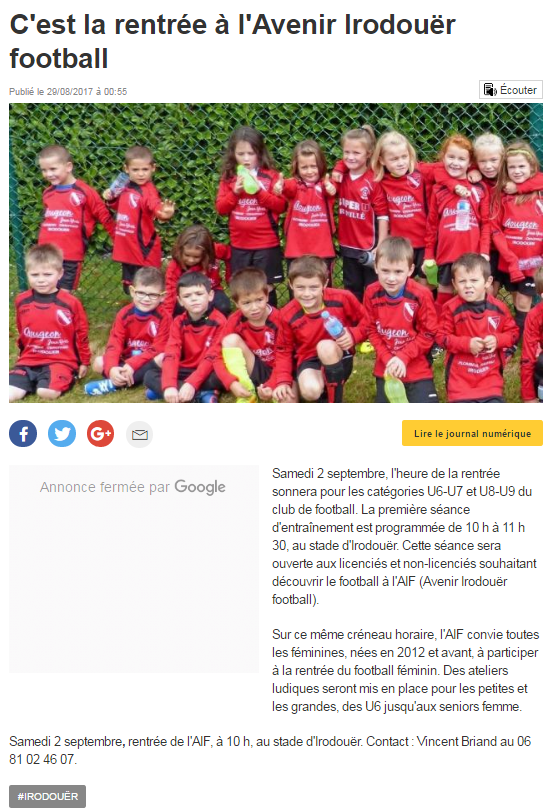 Rentree espoirs aif article